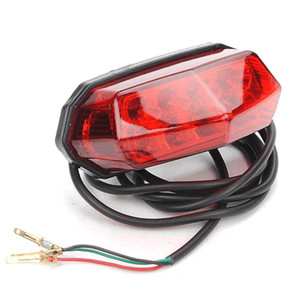 Cola de la motocicleta eléctrica Vespa trasera de advertencia del freno de la lámpara de 36V-60V Modificado Luz Universal a estrenar y alta calidad