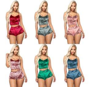 Women 2 Piece Ethika Set Womens Designer Velvet Tracksuits Women Sexy Tracksuit Fashion Sweatshirt Slim Breathable Fitness Shorts Swimsuit