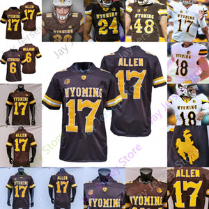 Custom Wyoming Football Jersey NCAA College Josh Allen Xazavian Valladay Levi Williams Isaías Neyor Bertagnole Charles Hicks Victor Jones