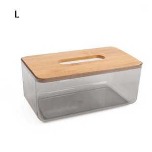 Bamboo Wooden Cover Plastic Tissue Box Paper Holder Dispenser Storage Case Home1