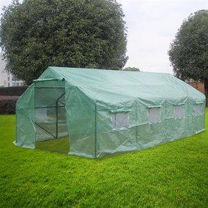 20x10x7in Ağır Hizmet Sera Tesisi Bahçecilik Spiked Sera Çadır UV Takviyeli Taşınabilir Yeşil Sıcak Evi T-Tipi Bitki Etiketler Korumalı