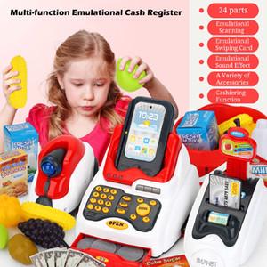 التعلم للتربية أمين الصندوق الاطفال اللعب بتقمص الأدوار هدية مكافحة تسجيل النقدية لعبة مصغرة مقلد نموذج سوبر ماركت هاوس دور LJ201007