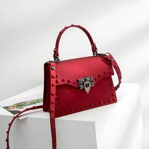 JHD Women Messenger Bags Handbags Women Bags Designer Jelly Bag Fashion Shoulder Bag PVC Leather Handbags