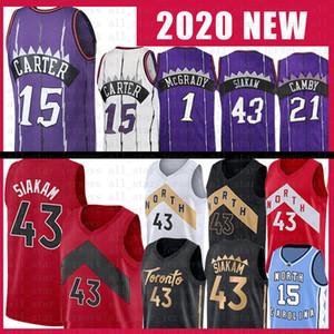 Pascal 43 Siakam Vince 15 Carter Basketball Jersey Tracy 1 McGrady Marcus 21 Camby Mens Adult Kids Jersey