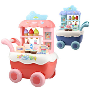 Childrens Play House Ice Cream Toy Car Trolley Mini Simulation Candy Ice Cream Educational Toy Set Wholesale
