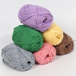 100G толстая нить нить вязание крючком пряжи DIY рука вязание подушки одеяло ткань полоса сумочка супер мягкая толстая коренастая футболка пряжа C1030