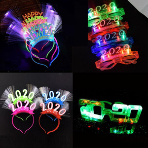 Desgaste Haoxin Led Óculos Partido 2020 Blinds Piscando Led Carnival New Eye Mask Cabeça Óculos Headband Luz Ano Neon Led Toy Cgjxs presente W Skec