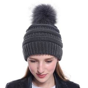 New ladies knitted baseball cap open ponytail hat men and women ski sports cap GD1190