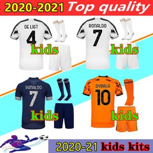 20 21 customize kids jerseys shirt kits + socks 2020 2021 best quality kids football uniform set