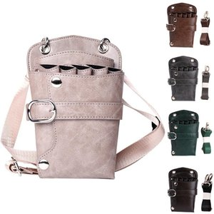 Rivet Waterproof Hairdresser Holder Barber Tool Storage Adjustable Strap Shoulder Casual Scissors Bag Waist Pack PU Pouch