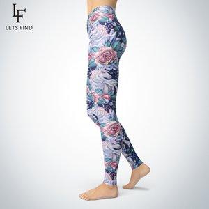 Letsfind 3D impresso flor cristal unicórnio leggings mulheres cintura médio alta qualidade e calças coloridas pintura a óleo sexy leggings 20126
