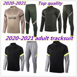 2020 Men Training Suit Futebol Jacket Tracksuit Camiseta de Fútbol Llorente 20/21 Jaqueta de Futebol Longo Zipper Tracksuit