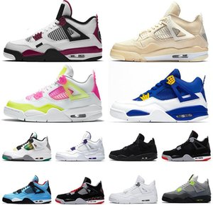 Basketball 2020 Shoes 4s Iv Mens Deep Ocean Sail Bred Jumpman Travis Scotts 4 Ovo Green Metallic Lemon Venom Womens Sports Sneakers 3