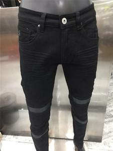 Yeni Gelenler Designe Jeans Ünlü Rahat Tasarımcılar Sonbahar Ince Bacak Kot Kot Yırtık Motosiklet Yaz Pantolon Kalem Pantolon Boyutu 28-40