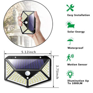factory wholesale 2021 top 100 LED Solar Motion Sensor Light, Outdoor Waterproof Solar Energy Lamp For Garden