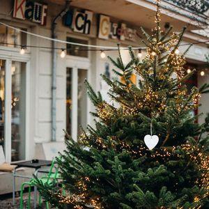 1 Box 12pcs Christmas Hanging Bell Shaped Pendant Xmas Tree Pendants Wooden Hanging Decor 1 Box wmtxwY fivegarden