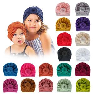 دونات الطفل قبعة الوليد مطاطا القطن الطفل قبعة قبعة كاب القوس متعدد الألوان الرضع العمامة القبعات الطفل عقال DHC4914