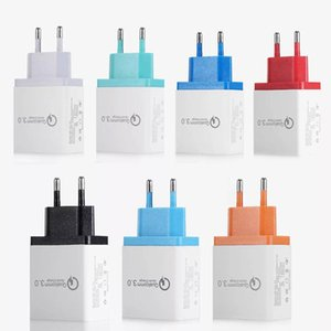3 Ports 18W EU US plug Fast Travel Wall USB Charger QC 3.0 Quick Charger power Adapter For iPhone Samsung Xiaomi iPad