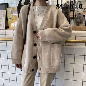 Beiyingni Autumn Winter Sweater Women Loose Outwear Cardigan Casual Women's Jacket Thick Warm Chic Knitted Long Tops Coat Female