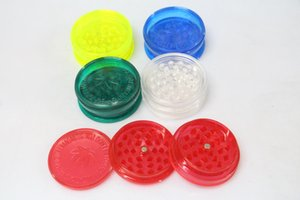 3 Part 40mm 60mm Tobacco Grinder 2 -Layer Plastic Herb Grinder Smoke Detectors Pope Smoking Pipes Acrylic Smoke Pipes Grinders Free Shipping