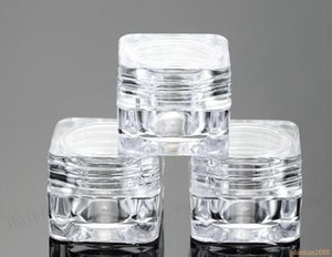 5G Empty Acrylic Clear Cosmetic Jar Small Sample Makeup Sub-bottling nail case Cosmetic Container Pot#12342