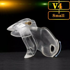HT V4 Male Chastity Lock Penis Cage Device Cock Cage With 4 Penis Ring Bondage Fetish Adult Sex Toys Cock Rings for men