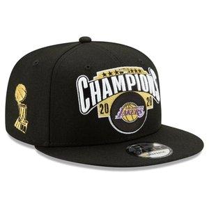 Die beste Los AngelesLakersMänner Frauen Jugendliche Cap New Era 2020 Finale Champion Umkleideraum 9FIFTY Snapback Adjustable Basketball-Hut Schwarz