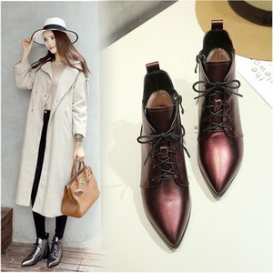 INS HOT Women ankle boots Natural leather plus size 22-26 cm length autumn and winter ladies boots snow Metallic cowhide