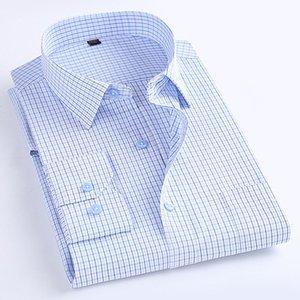 Macrosea classica in stile classico plaid manica lunga camicie casual camicie confortevoli abbigliamento da ufficio traspirante da uomo