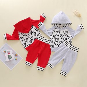 Spring INS Fashions Baby Girl Boy Clothing Sets Patchwork Stripes Hoodies Autumn Winter Infant Clothes Suits Outfits