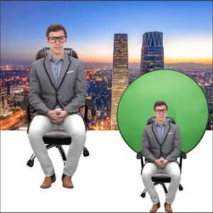 Зеленый экран фонов Фото Фон Портативного Fold Рефлектор для прямого эфира YouTube Video Studio Round 142cm 56inch