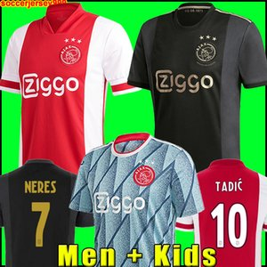 20 21 Maglia da calcio AJAX Amsterdam FC 2020 2021 KUDUS ANTONY BLIND PROMES TADIC NERES CRUYFF maglia da calcio kit uomo + bambini divise terzo 50 ° soccer jersey