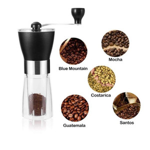 Coffee Grinders Manual Ceramic Coffee Grinder Washable ABS Ceramic Core Stainless Steel Home Kitchen Mini Manual Coffe Machine SEA CCC5228