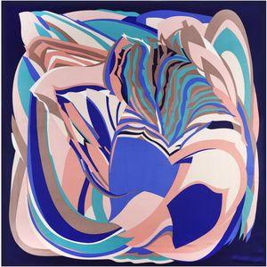 Oil Painting Square Scarf New Brand Women Winter Twill Print Turban Headband Large Hijab Infinity Scarf Silk Scarf 201026