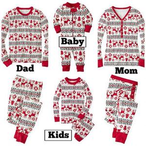 Xmas Kids Set 2020 Pyjamas Adult Pajamas Nightwear Baby Romper Merry Christmas Family Matching Outfits