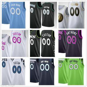Özel Baskılı 23 Jarrett CULVER 10 Jake Layman 41 Juancho Hernangomez 5 Malik Beasley 11 Naz Reid Erkekler Kadın Çocuk Gençlik Basketbol Formaları