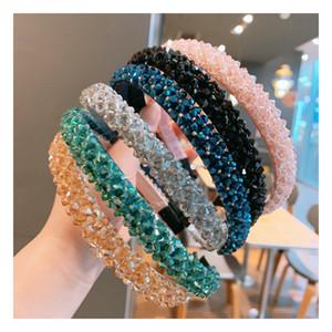 Kristall Stirnband Frauen Mädchen Luxus Glänzende Stirnbänder Mode Handgemachte Haarband Diamant Hair Hoop Haarschmuck Haarband Schmuck 218 K2