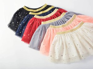 2021 new sequin star skirts lace Tutu kids skirts princess tiered skirts baby skirt baby girl clothes kids clothing girls dress B3573