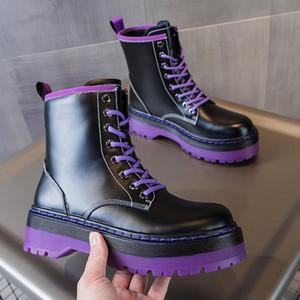 2021 fashion women boots Platform Suede Leather Plain Black High Low sole Boots heavy best classic shoes sneakers Boot 35-40d494#