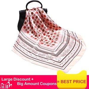 2020 New Print Women Scarf 90cm Square Turban Twill Silk Feeling Ladies Kerchief Luxury Scarves Hijab Fashion Shawls and Wraps