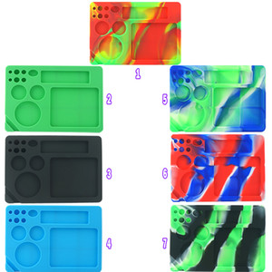 Bong Rolling Tray silicone Tobacco Roller Rolling Trays Make Rolling Papers Cigarette Accessories Silicone Container Oil Rigs
