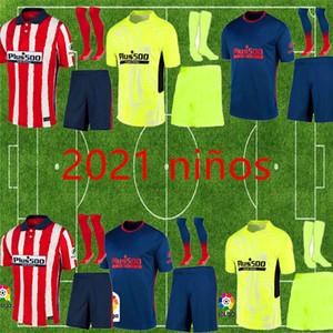 الاطفال 20 21 اتلتيكو مدريد سواريز المنزل بعيدا مجموعات 3RD لكرة القدم الفانيلة 2020 2021 Camisetas دي فوتبول JOAO FELIX قميص كرة القدم