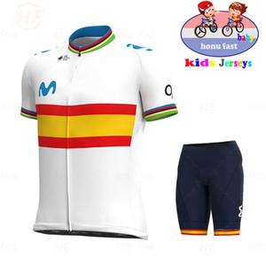 2020 스페인 아기 새로운 통기성 아이들 사이클링 저지 세트 반바지 형광등 핑크 어린이 자전거 의류 소년 여름 자전거 C0123