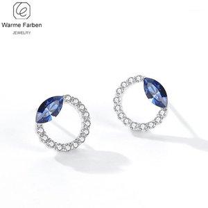 Warde Farben Crystal de Pendientes 2020 Nueva Personalidad de la moda brillo con incrustaciones de zircon Crystal Circle Stud Pendientes Gift1