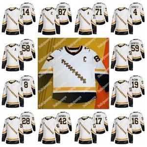 Pittsburgh Penguins 2020-21 inversa retro Cuarta Jersey 87 Sidney Crosby Kris Letang Evgeni Malkin Jake Cody Guentzel Kasperi Kapanen Ceci