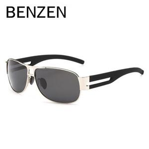 BENZEN Rectangle Sunglasses Men Brand Designer Alloy Polarized Male Sun Glasses Driving Glasses Shades With Case 9160
