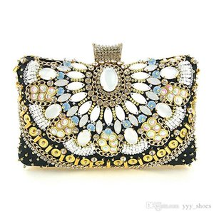 Sparky beading Women Bridal Hand Bags For wedding Flap Evening Clutch Chain Bag Applique Bridal Bags Party Bling chain free ship