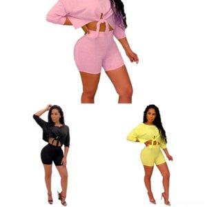 O25 Artı Boyutu Elbiseler Seksi Kadın Twodress Seksi Spagetti Kayışı Mini Pie Split Üstleri Etekler Setleri Iki Ve Elbise Donanma Mavi Kadınlar için -