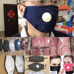 PM Face Free Reousable Mask Mask с FedEx моющиеся 2,5 прокладки с вентилятором клапанов 100% хлопчатобумажная ткань хорошее качество с двумя HF