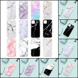 100DHL Marble Pattern Designer Shockproof Cell Phone Cases TPU Silicone Soft Phone Cover Case for 11 12 mini Pro Max 7 8 Plus